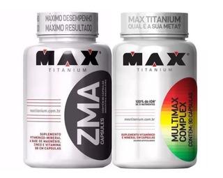 Multivitaminico Multimax 90 Cáps + Zma 90 Cáps Max Titanium