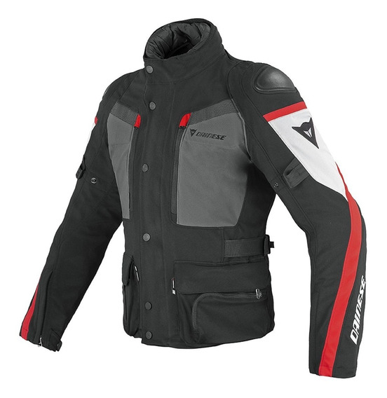 Campera Touring Dainese Carve Master Gore-tex Ne/gr/rojo