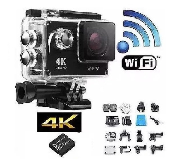 Camera Filmadora Sports 16mp Full Hd 1080p Wi-fi Prova Dágua