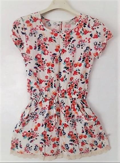 Vestido Wanama Talle 12 Floreado Como Nuevo!!