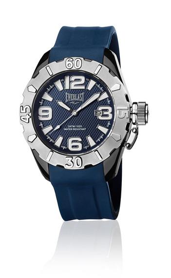 Relógio Masculino Everlast Esportivo Pulseira Silicone Azul