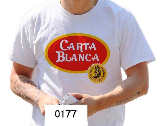 Playera Cerveza Carta Blanca Caguama Chela Camiseta