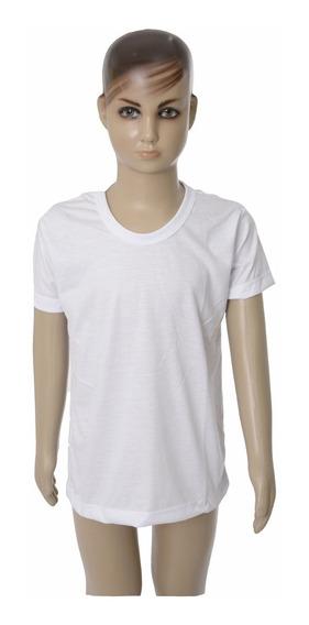 10 Camiseta Tam 12 E 14 100% Poliéster Camisa Sublimação