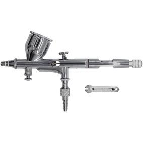 Caneta Aerografo Profissional Dupla Ação 0.2mm Metalico