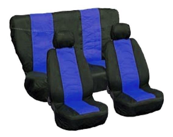 Conjunto De Capa Tecido Para Banco Carro Sport Azul E Preto