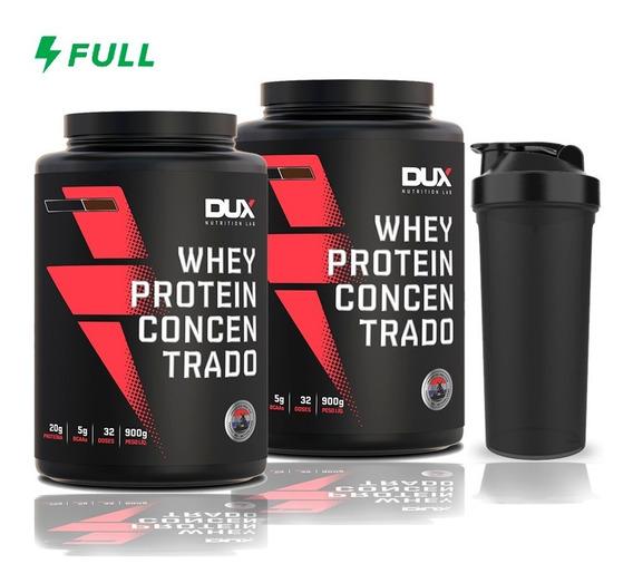 Kit 2x Whey Protein Dux Concentrado 900g - Massa Muscular