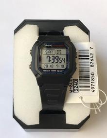 Relógio W 800 Unissex Preto 100 Metros Alarme Original