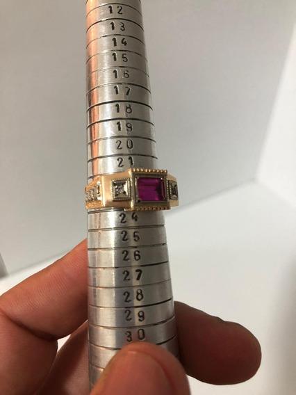 Anel De Formatura De Ouro 18k-750 Com 5 Gramas Super Barato.