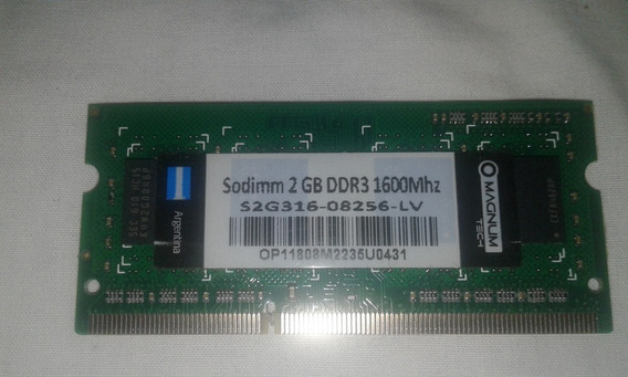 Memoria 2gb Ddr3 1600mhz