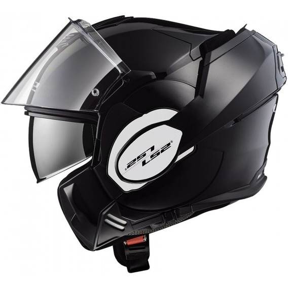 Casco Moto Ls2 Ff399 Abatible Valiant Negro Matte