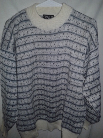 Sweater Hombre Pura Lana Italiano Talle X L Impecable!!