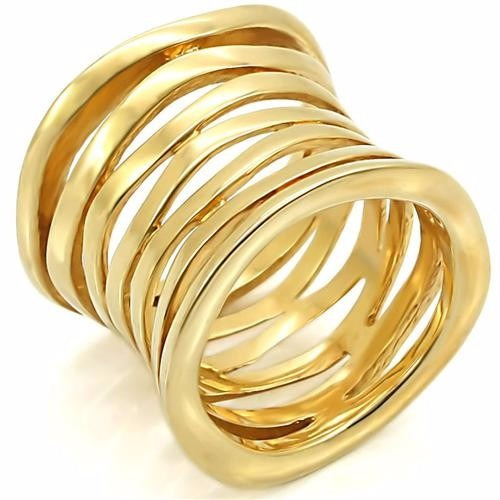 Anel Folheado A Ouro 18k Luxo