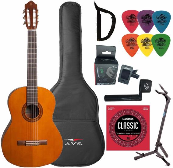 Violão Yamaha Acústico C45ll Clássico Nylon Natural + Kit