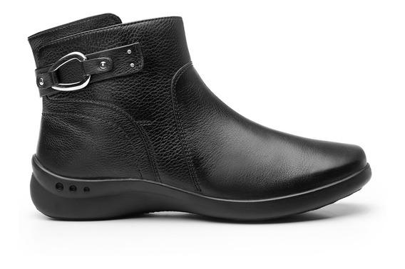Zapatos Dama Estilo Botin Vestir Casual 48325 Negro Flexi