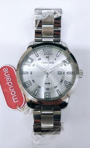 Robusto Relógio Masculino Prata Mondaine 78670g0mkna1 Novo
