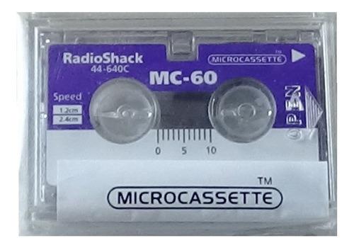 1 Pieza Micro Cassette Radioshack 60 Minutos Mc-60 Nuevo