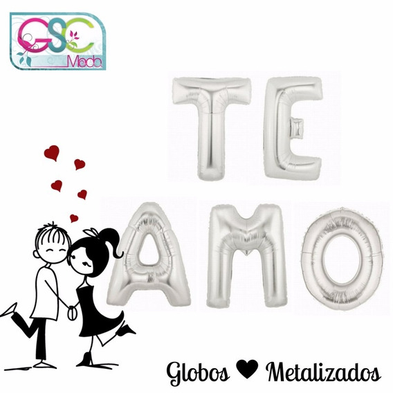 Globos Metalizados Te Amo Love Amor Regalo Aniversario