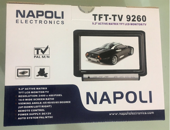 Tela Monitor Tv 9.2 Napoli 9260 Dc 12v Automotiva Cftv