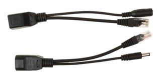Rj45 Poe Splitter Inyector Fuente De Alimentación 12-48v