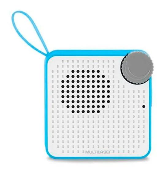Caixa Som Bluetooth Speaker 5w Micro Sd Resistente Agua Azul