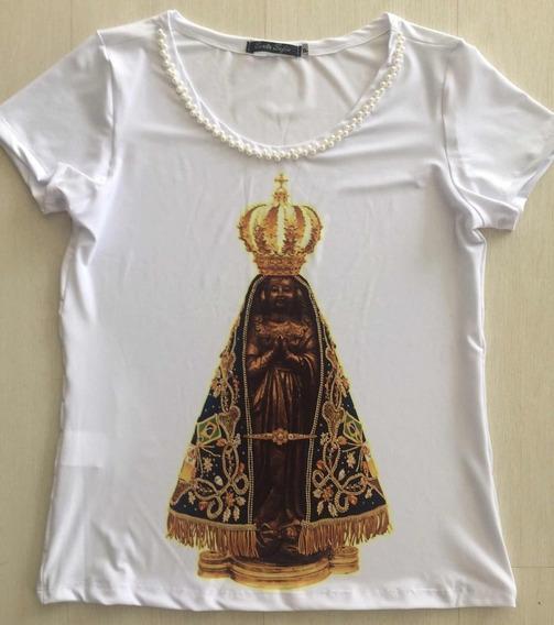 T-shirt Nossa Senhora Aparecida Santa Sofia Moda Católica