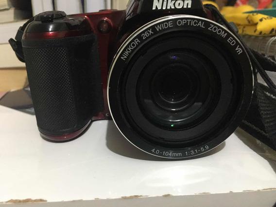 Câmera Semi Profissional Nikon L810 Seminova