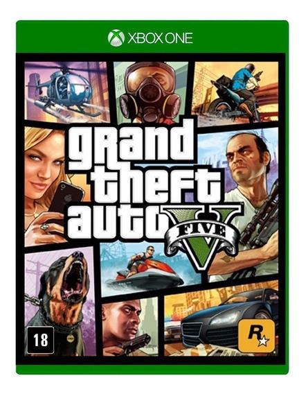 Jogo Gta V Xbox One Gta 5 Mídia Física Lacrado Frete Grátis
