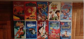 Lote 10 Vhs Disney
