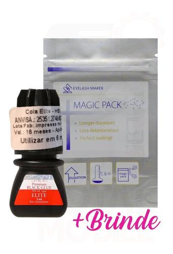 Imagem 1 de 8 de Cola Elite Hs-10 3ml Alongamento Cílios Premium Black Glue