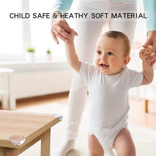 YIY 50 protectores de esquina de tama/ño grande mantiene al beb/é seguro muebles y esquinas afiladas a prueba de beb/és blanco blanco Talla:20Pcs fuerte adherencia