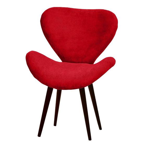 Poltrona Decorativa Swan Vermelha - Pé Palito