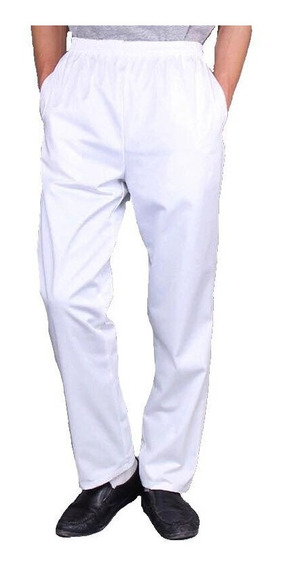 Calça Em Oxford Branca Para Candomblé Unissex Trabalho Com Elástico 3 Bolsos Confortável Pronta Entrega