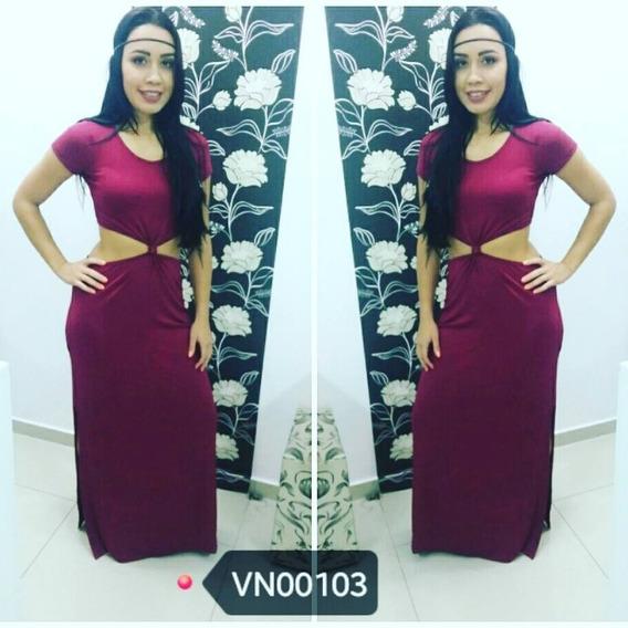 Vestido Nozinho Longo Moda Feminina Roupas 2018