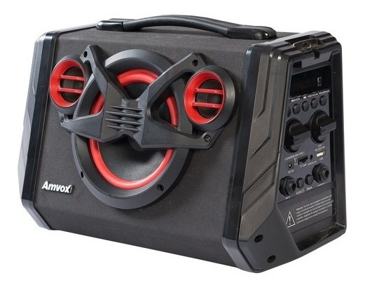 Caixa Amplificada Amvox Aca 110 Black 80w Bluetooth
