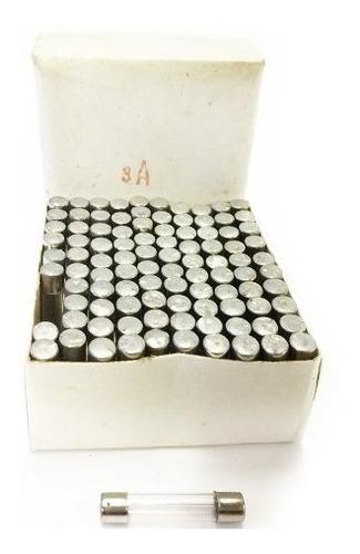 Fusible De Vidrio 3a 250vac 6x30mm Caja De 100 Unidades