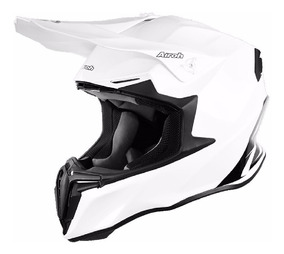 Casco Airoh Switch Blanco Cross Cuatriciclo Utv Dompa 44