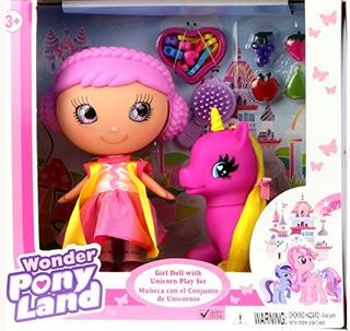 Muñeca Gigo Girl Con Accesorios Para Unicornio Y Cabello