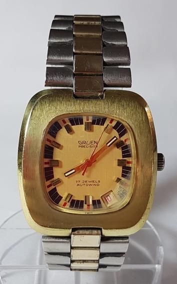 Relogio Vintage De Pulso Gruen Precision 17 J.autowind