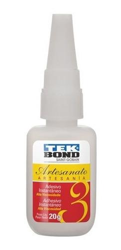 Pegamento Adhesivo Instantáneo Tekbond 20 Gs Artesanía