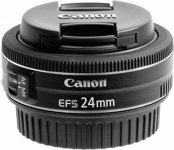 Lente Canon Ef-s 24mm F/2.8 Stm Revenda Autorizada Com Nf-e