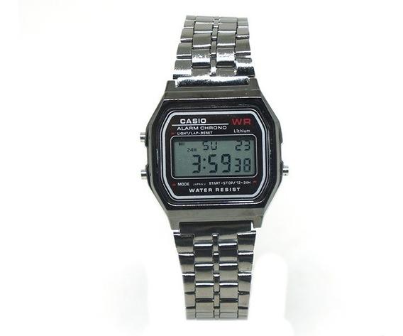 Relógio Digital Vintage Casio Grafite