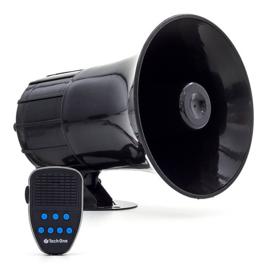 Sirene Automotiva 7 Tons Tech One Com Microfone Policia