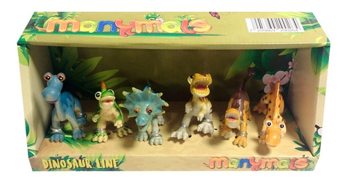 Set X 6 Dinosaurios Manymals 10 Cm
