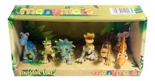 Set X 6 Dinosaurios Manymals 10 Cm