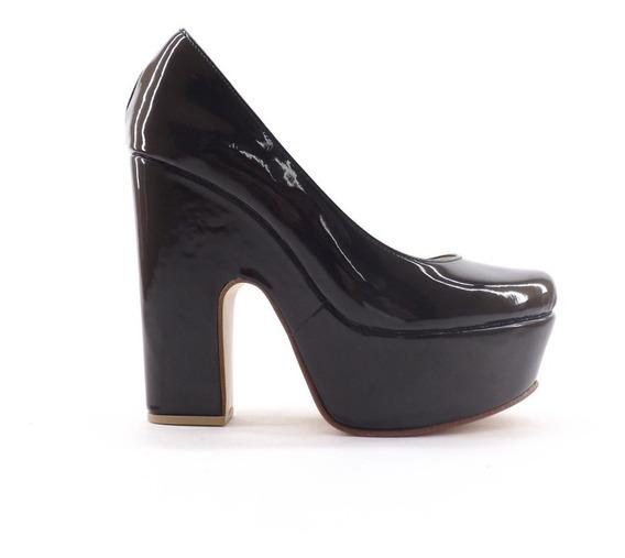 Zapatos De Fiesta Taco Ancho Plataforma Nuevos Dama Carla