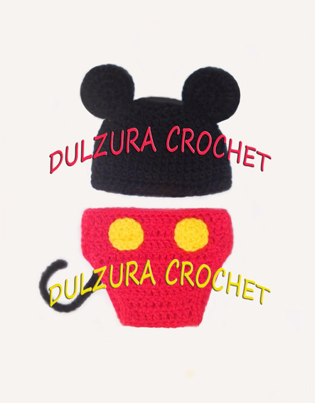 Pañalero Y Gorro Tejidos Crochet Bebes Regalo Babyshower