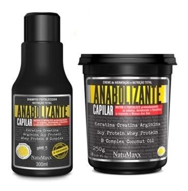 Kit Anabolizante Shampoo 300ml + Mascara 250g #otimo Produto