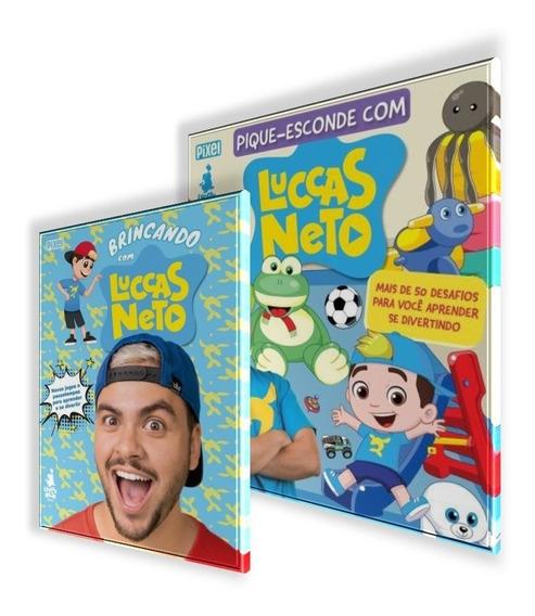 Livro Pique-esconde + Brincando Com Luccas Neto Novo 2 Vols