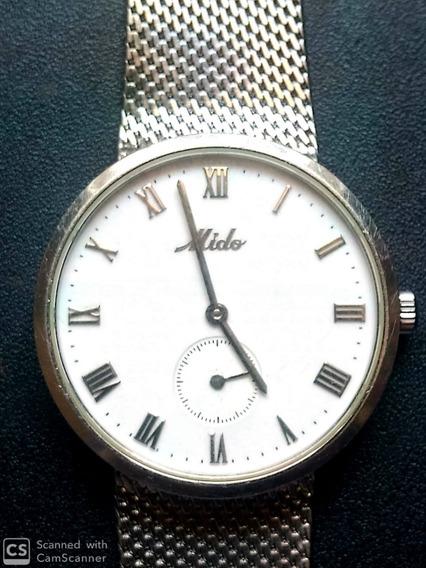 Relógio Mido Belluna Gent Ii Mov A Corda Date Impecável