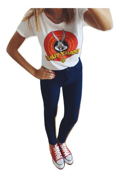 Jeans Jean Mujer Elastizados Tiro Alto Chupin Dama Calce Perfecto Premium Talles 4